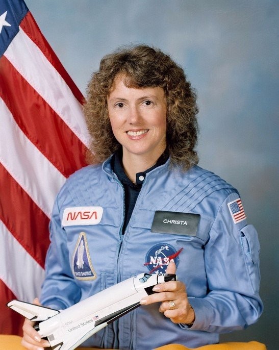 The teacher of the Challenger Shuttle