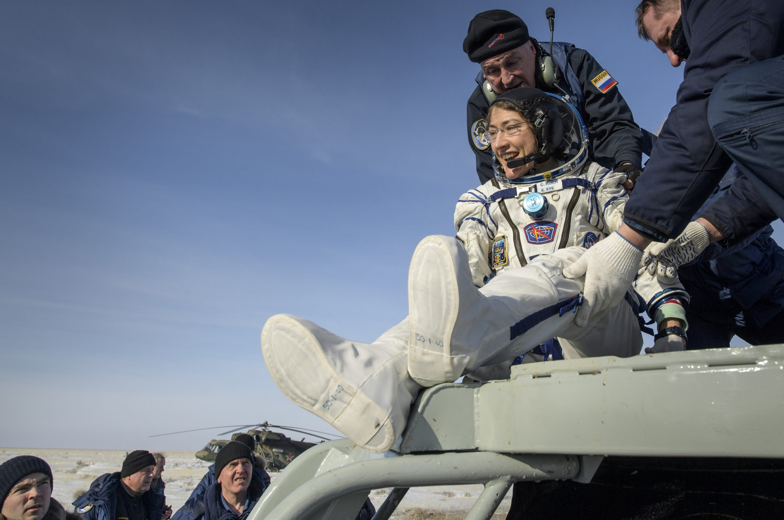 Astronauts Return Home From Space